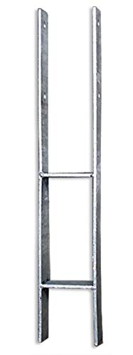 Gartenpirat H-Anker 71 mm für Pfosten 7x7 cm Materialstärke: 6 mm