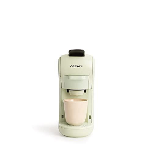CREATE IKOHS Máquina de Café Espresso Italiano - Cafetera Multi Cápsulas Compatible Nespresso 3 en 1, 19 Bares con 2 Programas de Café, deposito extraíble, 0,6 L, 1450 W (Verde)