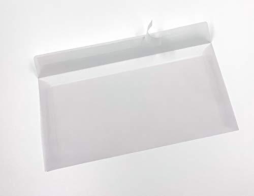 Transparente Briefumschläge, DIN lang, Haftklebestreifen, 50 Stück