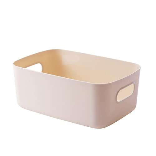 Contenedor de almacenamiento de cosméticos Sundries Case Plastic Desktop Storage Basket con asa, caja de almacenamiento de mesa, organizador (02)