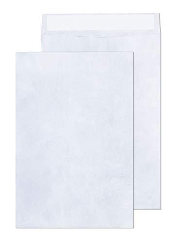 Tyvek Envelopes – 10x13 Mailer Tear Resistant Envelopes Tyvek Construction & Easy Self Seal Closure –Bright White – Bulk Pack of 50 – 10 x 13 Inch (White, 10x13)