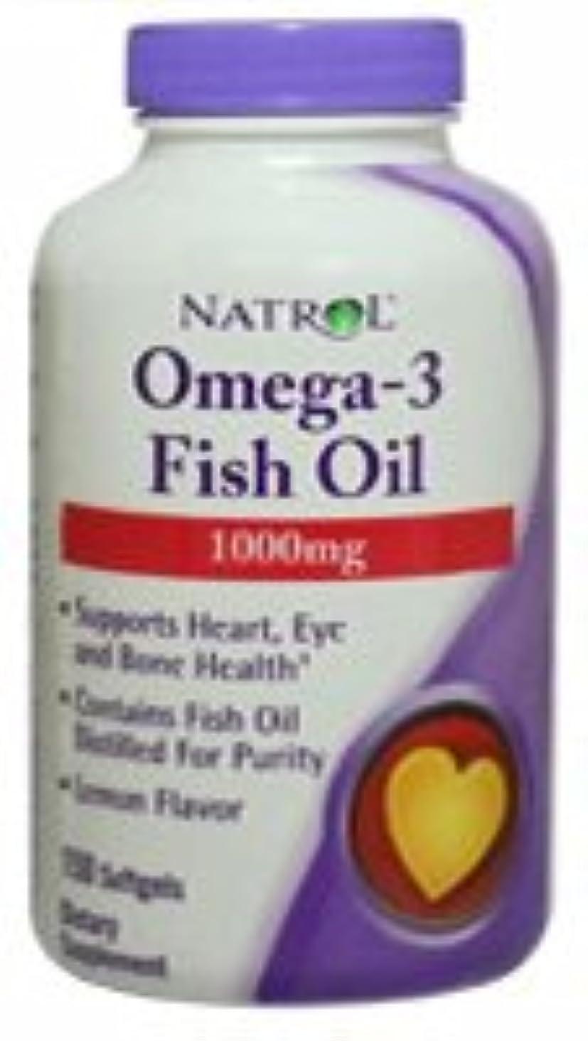 害虫修復困難[海外直送品] Natrol オメガ3 フィッシュオイル 1000mg 150粒  レモンフレーバー