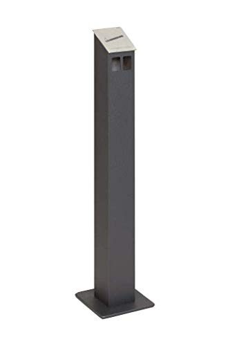 HISKA Standascher Aluminium Pulverbeschichtet (Anthrazit)