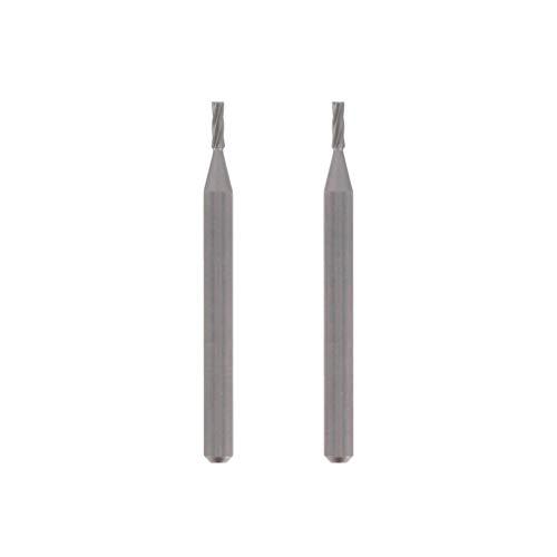 Dremel 193 Hochgeschwindigkeits-Fräser - Zubehörsatz für Multifunktionswerkzeug mit 2 Fräsern Ø3,2mm zum Schnitzen, Gravieren und Fräsen in Holz, Weichmetall, Beton u.v.m.