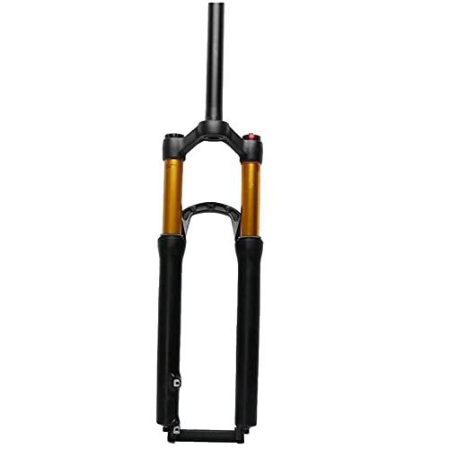Tenedor de Bicicleta de 24 Pulgadas, Horquilla de suspensión de Bicicleta de suspensión MTB, Aceite/Resorte Recto 28,6 Mm Recorrido 110 Mm Freno de Disco HL QR 9 Mm Horquilla de Bicicleta
