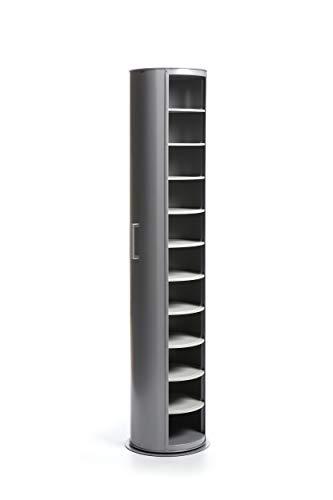 EMPORIUM Metalpop Mobile Contenitore Multiuso Girevole in Acciaio Verniciato a Polveri Epossidiche, Grigio