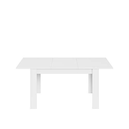 13Casa Granada A6 Tavolo Allungabile, Melammina, Bianco, 78 x 140 x 90 cm, rettangolare