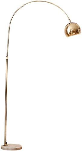 GLXLSBZ Lámpara de pie de Lectura LED de mármol Cepillado, Poste de luz Moderno Independiente con Cuello de Cisne Ajustable - Alto - Lámpara de pie para Manualidades y tareas