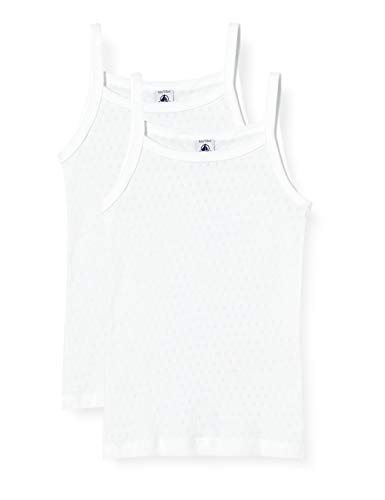 Petit Bateau 5331400 Camisa de Vestir, Blanc + Blanc, 6 años para...