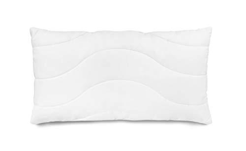 Traumnacht Komfort Kopfkissen, mit einem atmungsaktivem Baumwollbezug und Reißverschluss in 40 x 80 cm