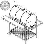 "1306 Trailer Plan - 32""x22"" Pit & Grill DIY How-to Blueprint"