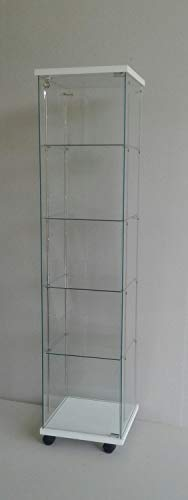 ABP - 4 vitrinas, ajustable con 4 estantes, vitrinas, escaparates, escaparates, decoración de tiendas