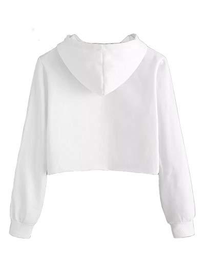 Girls Unicorn Crop Tops Kids Cute Hoodies Long Sleeves Pullover Sweatshirts 4