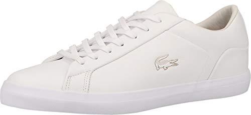 Lacoste Lerond 0921 2 CM - Zapatillas de piel para hombre, color Blanco, talla 44 EU
