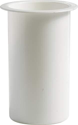 Pilla   Portafiori Interno in plastica per Vaso votivo da cimitero Colore Bianco   Altezza 16 cm, Diametro Circolare 11 cm.