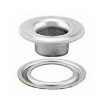 Stimpson Self-Piercing Grommet and Washer Nickel-Plated Reliable, Durable, Heavy-Duty #2 Set (500 Pieces of Each)