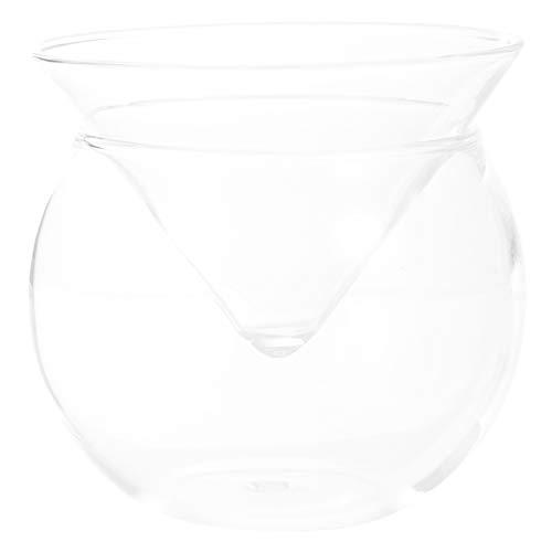 Hemoton Cuenco de Vidrio de 170ML Cuenco Triangular Transparente para Servir Aperitivos de Cuenco de Vidrio Transparente Irregular para Ensalada Postre Palomitas de Maíz Platos para
