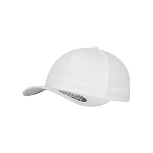 Flexfit Unisex Baseballkappe mit 5 Paneelen (L/XL) (Weiß)