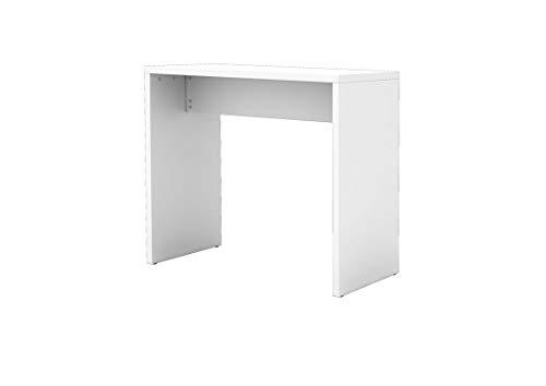 DR-Office Meeting Point Stehtisch in weiß - Tischplatte 120 x 65 cm - Höhe einstellbar 108,3 cm - 4 Kleiderhaken - Schnellmontagetechnik