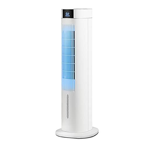 OCYE Ventilador de Torre con Temporizador de 8 Horas y Control Remoto, 3 configuraciones de Velocidad y Funcionamiento silencioso, Ventilador de Piso sin Hojas, 55 W, Blanco