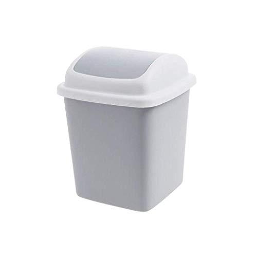 Botes de basura Bote de basura de la basura Moda y Protección Ambiental de la basura puede hacer pivotar la cubierta de plástico de escritorio pueden Mini Papelera del hogar Sala de estar Mesa con tap