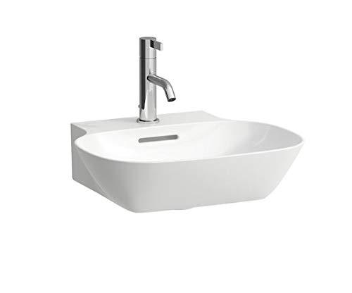 Laufen INO Handwaschbecken, 1 Hahnloch, mit Überlauf, 450x410, weiß, Farbe: Weiß mit LCC