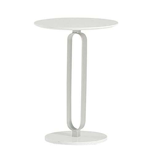 Mesa Auxiliar de Mesa Mesa de Centro de mármol Tipo C Sofá Moderno Simple para Oficina/Sala de Estar/área de Ocio/librería (30x50x58CM) (Color: Negro)