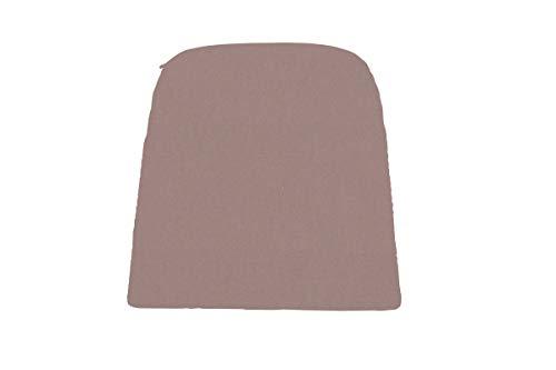 Hartman Delphine Sitzkissen für Loungesessel, Havana Taupe, 100% Acryl, 40 x 40 x 3 cm, Anti-Rutsch Unterseite