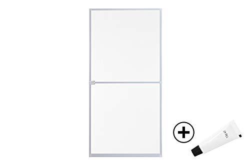 empasa Insektenschutz Fliegengitter Tür Alurahmen START in weiß, braun oder anthrazit 100 x 210 cm mit Scharnierkleber