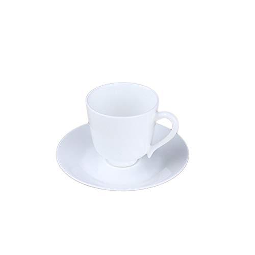 Erjialiu 150 Ml Espresso koffie beker met schotel kit witte kleur keramische bot China kleine bekers yoghurt handvat mok thuis Drinkware geschenken