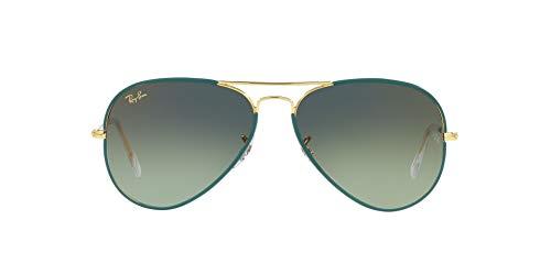 Ray-Ban 0RB3025JM Gafas, PETROLEUM ON LEGEND GOLD, 62 Unisex Adulto