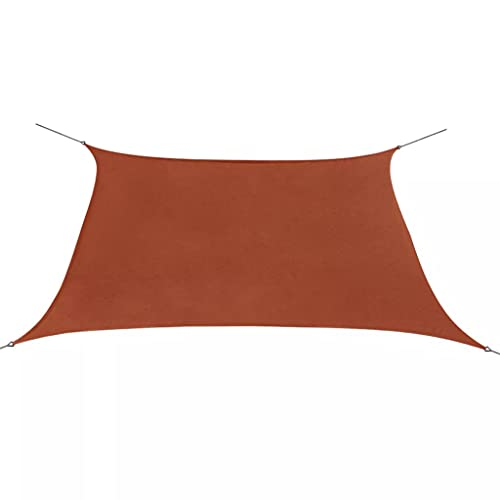 Famehours Sombrilla Sail Oxford Tela Cuadrada 2x2 m Terracota