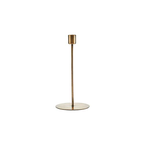 House Doctor Kerzenständer, Anit, Antikes Messing-Finish, h: 20 cm, Dm: 9,5 cm, Edelstahl