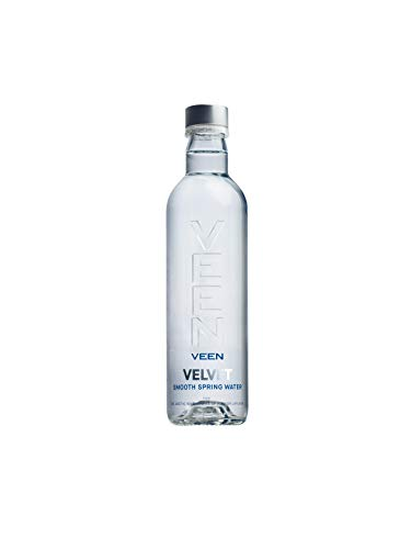 VEEN Velvet Quellwasser - Mineralwasser ohne Kohlensäure, stilles Wasser in hochwertiger Glasflasche, Durstlöscher aus Naturquelle, mineralarme stille Wasser, Wasserflasche aus Glas (24x 330ml)