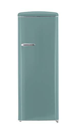 exquisit Vollraumkühlschrank Retro Look Kühlschrank A++ 229 Liter freistehend in fünf Farben (Taubenblau)