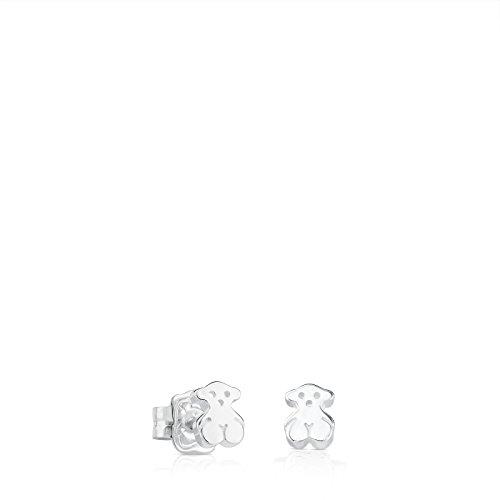 Pendientes TOUS Bear en Plata de Primera Ley, cierre botón - Tamaño oso 0,5 cm