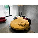 "Scala Bedding Round Bed Sheet Set 400TC 100% Egyptian Cotton King 96"" Diameter Solid Gold"
