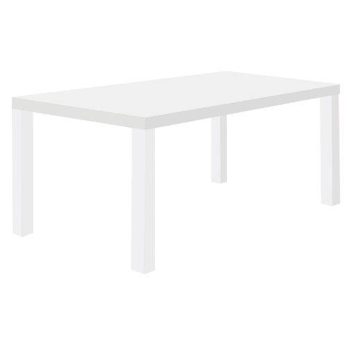 Tema Home Holz-Wabenplatte, mehreckige Beine 180 cm mit reinem Weiß matt, 180 x 80 x 72 cm, Weiß