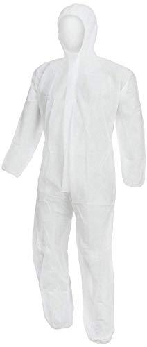 Nitras PP - Chemikalien-Arbeitsoverall m. Kapuze - Weiß - Gr. 3XL