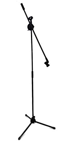 DOUBLE MICROPHONE STAND BOOM MIC ARM Adjustable Over 7' Foot Mike Stage Tripod