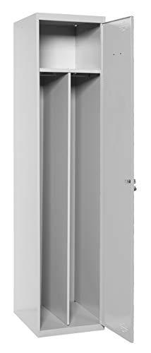 Taquilla profesional desmontada 1 cuerpo 1 puerta con divisor dentro Gris/Gris Simonrack 1800x400x500 mms - Taquilla industrial - taquilla de vestuario