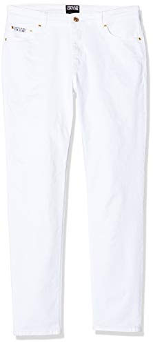 Versace Jeans Couture Jeans Donna Slim, Bianco (Bianco 003), (Taglia Unica: 32)