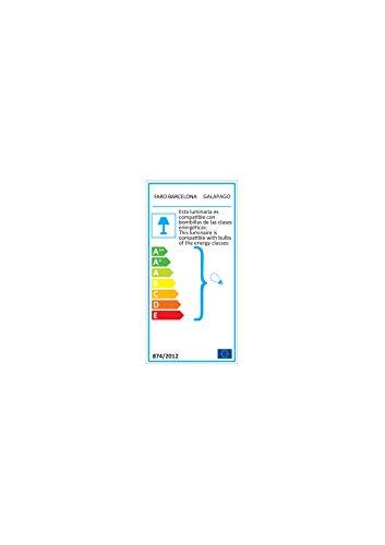FARO BARCELONA 33301 - GALAPAGO Ventilador de Techo con luz (Bombilla incluida), Acero y Palas de Madera MDF