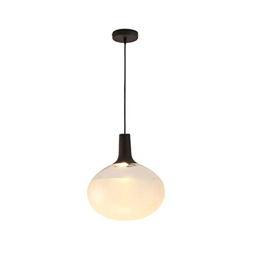 LZQBD Lámparas de Candelabros, Luces Colgantes, Restaurante Sencillo Moderna Lámpara de Cama Creativa Moderna Lámpara de Vidrio Caliente