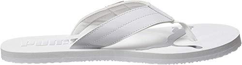 PUMA Unisex-Erwachsene Cozy Flip Zapatos de Playa y Piscina, Weiß White-High Risk Red, 42 EU