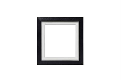 Instagram Square 3D Deep Box Frame Range Picture/Photo/Poster Frame Poster Display with Bespoke Mount - Black Frame with White Bespoke Mount - 5'x5' for 4'x4' pictures - m-3D-DeepBox-blk-wht-5-5