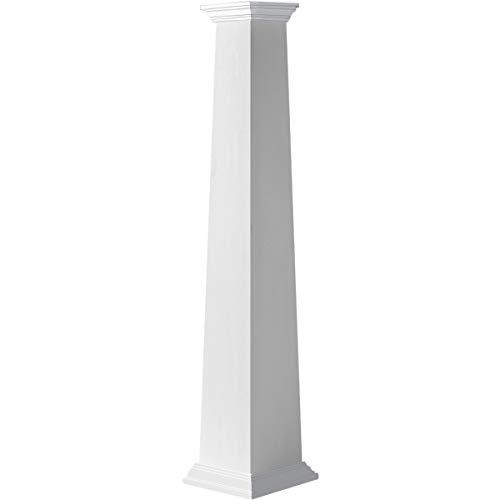 Ekena Millwork CC1005ETPCRCR Column, White