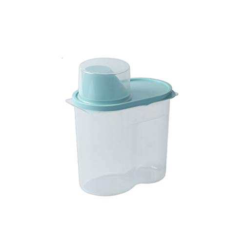 YUMEIGE Caja de almacenamiento de cosméticos Cans herméticos de granos enteros, latas de granos transparentes de plástico a prueba de insectos para cocinas domésticas, latas de almacenamiento de alime