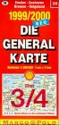 Die Generalkarten Deutschland, Bl.3/4, Emden, Bremen, Cuxhaven, Bremerhaven -