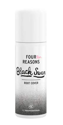 Four Reasons Root Cover Spray - Black Swan - 125ml - Root Regrowth Coloured Hair Spray for Black or Grey Hair - VEGAN